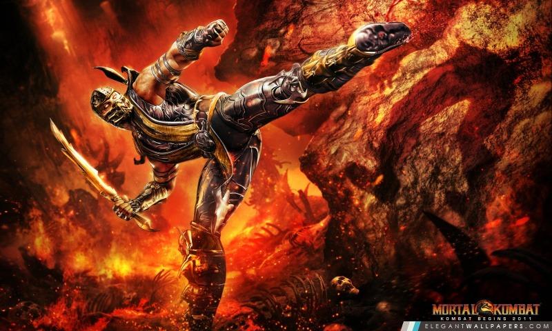 Mortal Kombat 9 Scorpion, Arrière-plans HD à télécharger