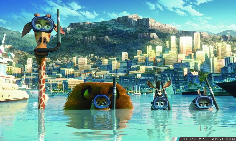 Madagascar 3 Europe Most Wanted, Arrière-plans HD à télécharger