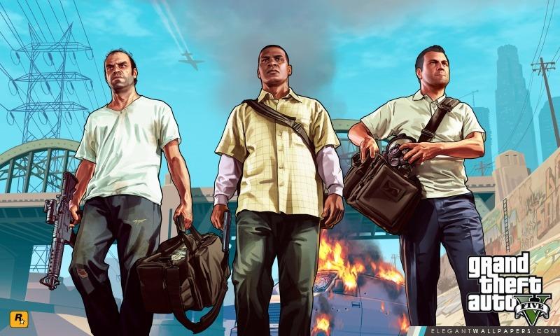Grand Theft Auto V – Franklin, Michael et Trevor, Arrière-plans HD à télécharger