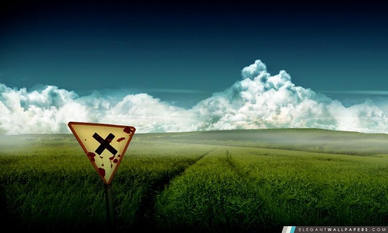 Artistique champ de blé, Arrière-plans HD à télécharger