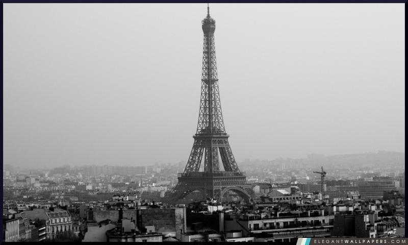 Tour Eiffel Noir Et Blanc Fond Décran Hd à Télécharger
