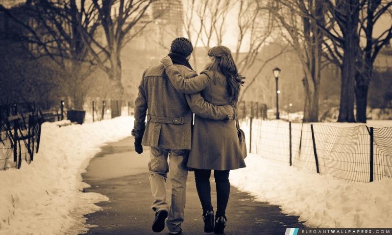 Promenade romantique dans le parc, Arrière-plans HD à télécharger
