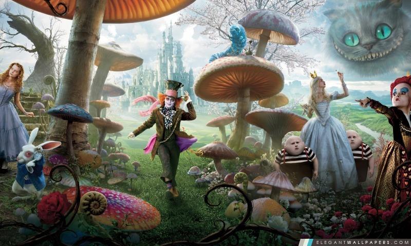 Alice In Wonderland Film 2010, Arrière-plans HD à télécharger