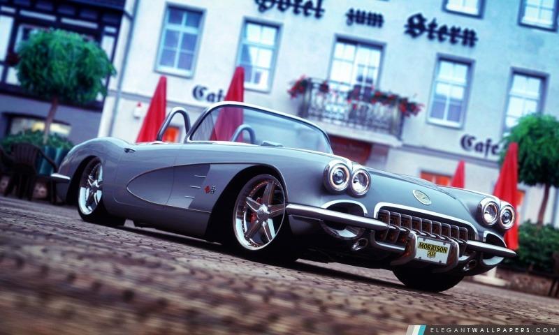 Corvette classique Gran Turismo 5, Arrière-plans HD à télécharger