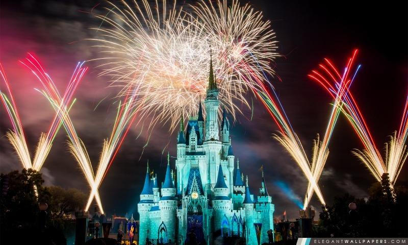 Magic Kingdom feux d'artifice, Arrière-plans HD à télécharger
