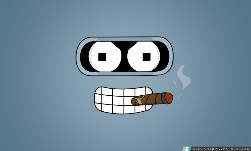 Futurama Bender cigare, Arrière-plans HD à télécharger