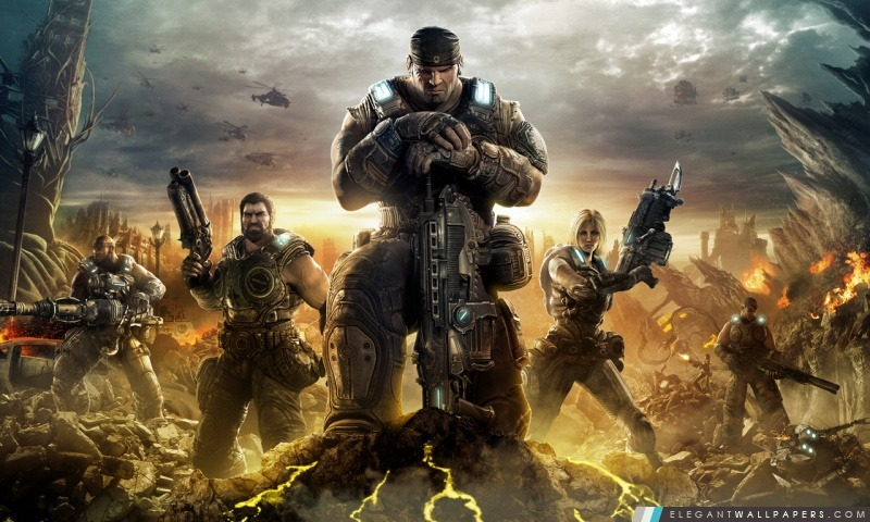 Gears Of War 3, Arrière-plans HD à télécharger
