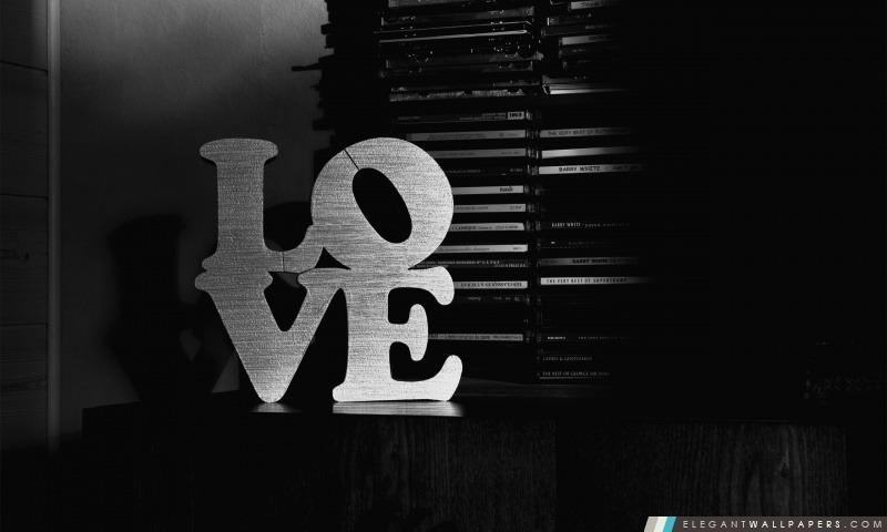Amour noir et blanc, Arrière-plans HD à télécharger