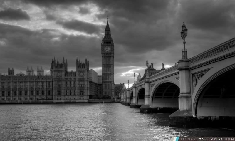Londres En Noir Et Blanc Fond Décran Hd à Télécharger