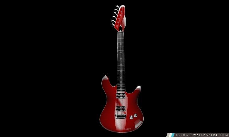 Guitare Rouge Fond D Ecran Hd A Telecharger Elegant Wallpapers