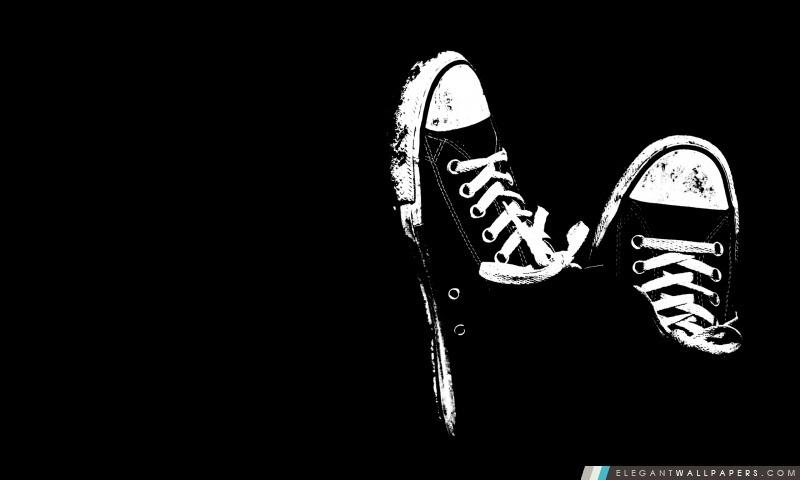 Sneakers En Noir Et Blanc Fond D écran Hd à Télécharger