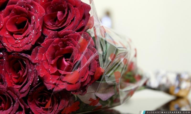 Bouquet De Rose Rouge Fond D Ecran Hd A Telecharger Elegant
