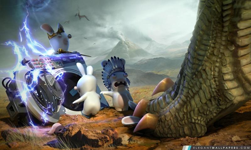 Les Lapins Crétins Voyage In Time – Jurassic, Arrière-plans HD à télécharger