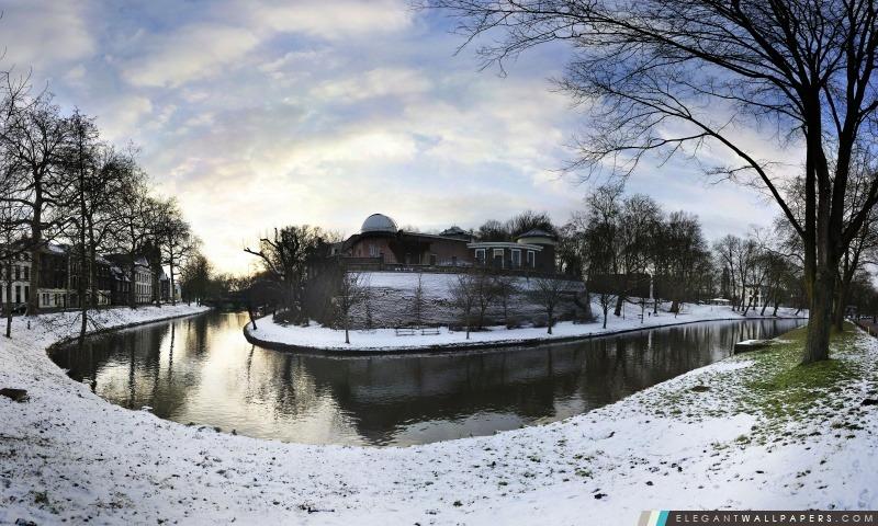 Sonnenborgh Observatoire, Utrecht, Pays-Bas, Arrière-plans HD à télécharger