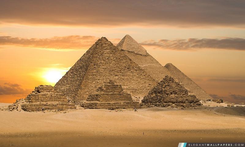 Pyramides égyptiennes – Le Caire, Egypte, Afrique, Arrière-plans HD à télécharger