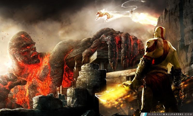 Kratos et Titan, Arrière-plans HD à télécharger
