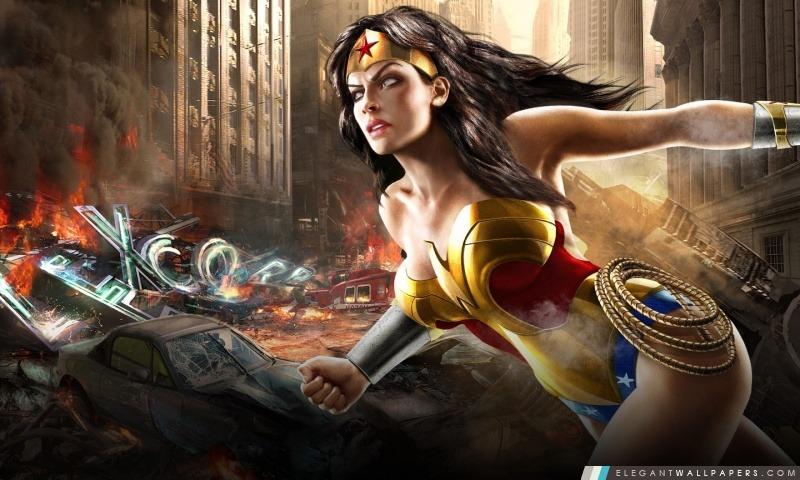 Mortal Kombat Vs DC Universe Comics – Wonder Woman, Arrière-plans HD à télécharger