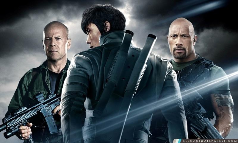 GI Joe Retaliation – Dwayne Johnson, Bruce Willis, Arrière-plans HD à télécharger