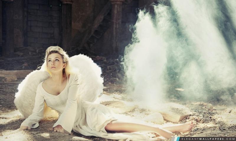 Fille Avec des ailes d'ange, Arrière-plans HD à télécharger
