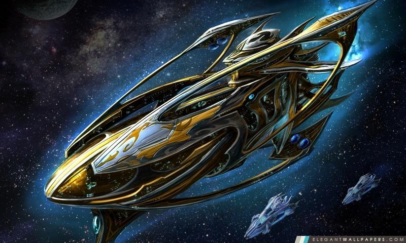 Starcraft Protoss Battleship, Arrière-plans HD à télécharger
