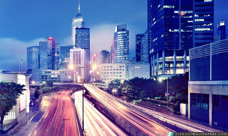 Hong Kong Night View, Arrière-plans HD à télécharger