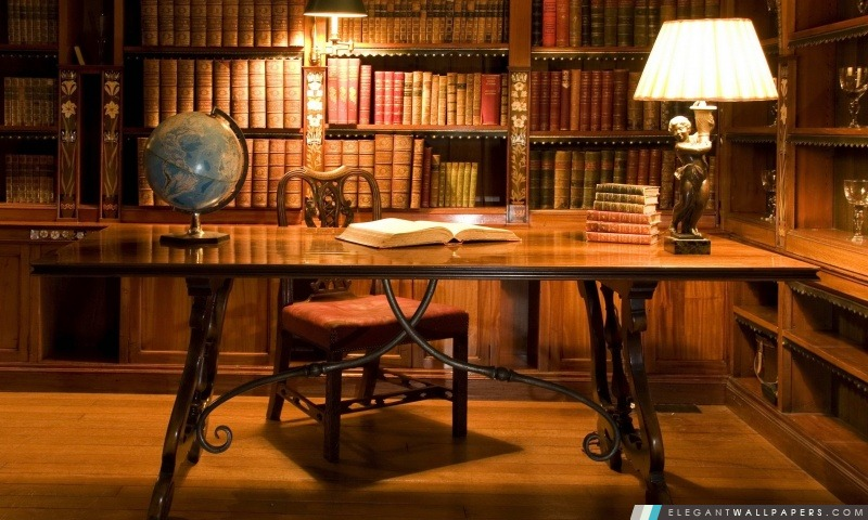 Biblioth 232 Que Bureau Antique Fond D 233 Cran Hd 224 T 233 L 233 Charger