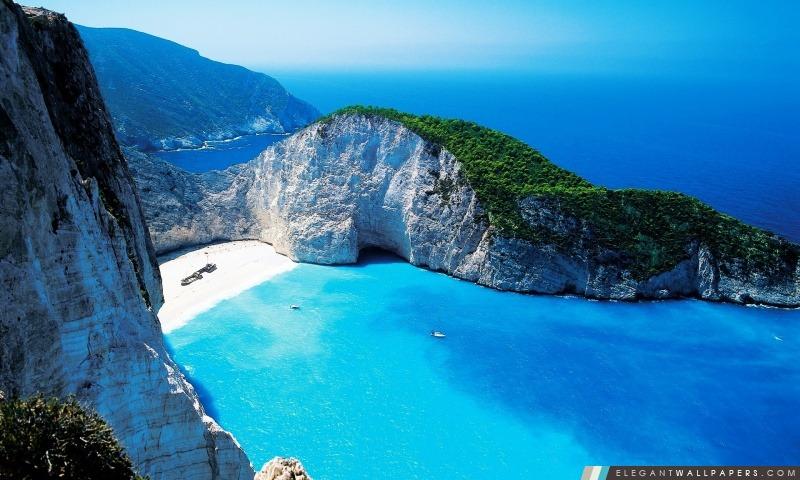 Navagio Bay, Grèce, Arrière-plans HD à télécharger