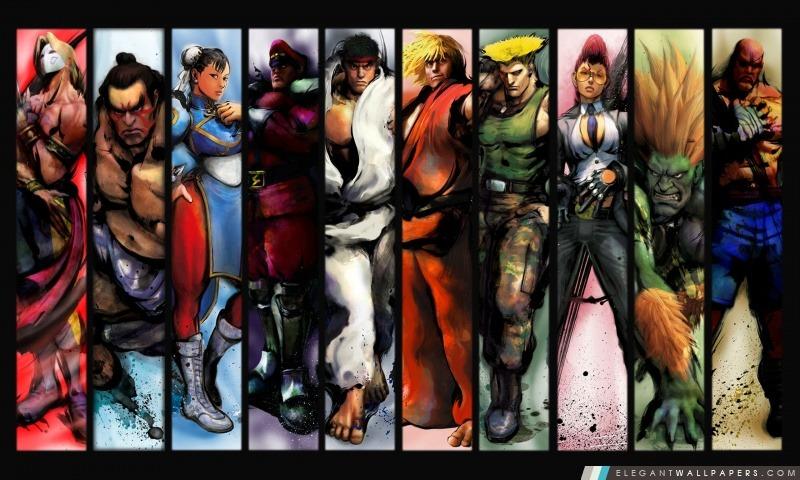 Street Fighter caractères, Arrière-plans HD à télécharger