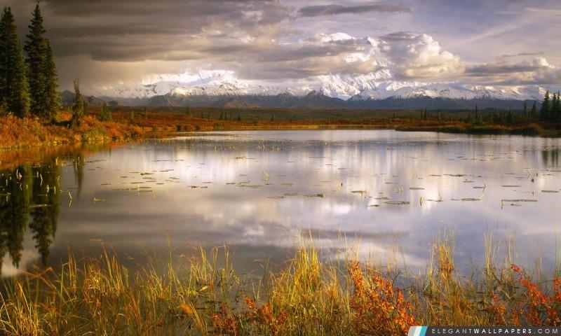 Lac d'automne, Arrière-plans HD à télécharger