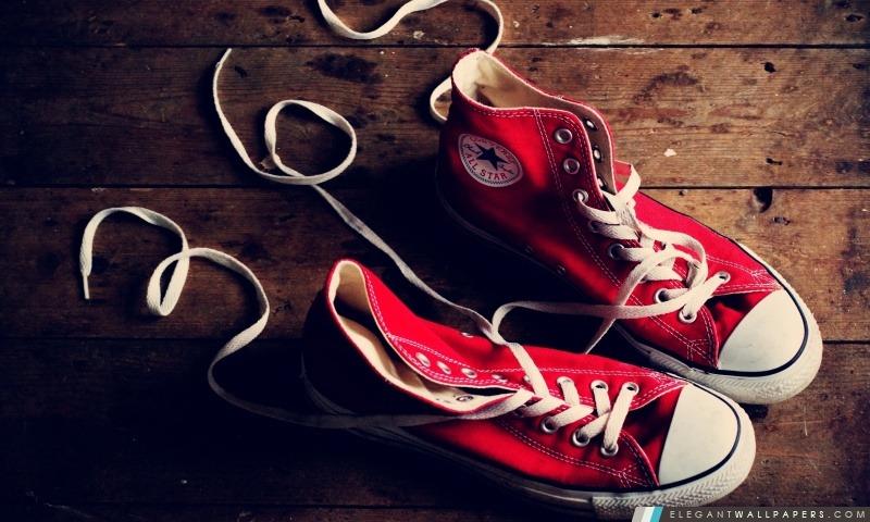 Rouge Converse Sneakers Fond D écran Hd à Télécharger