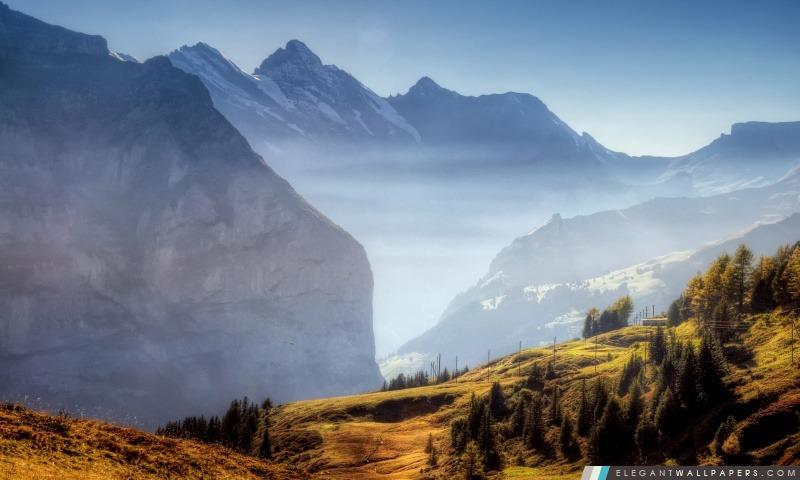 Mountain Ridge automne, Arrière-plans HD à télécharger