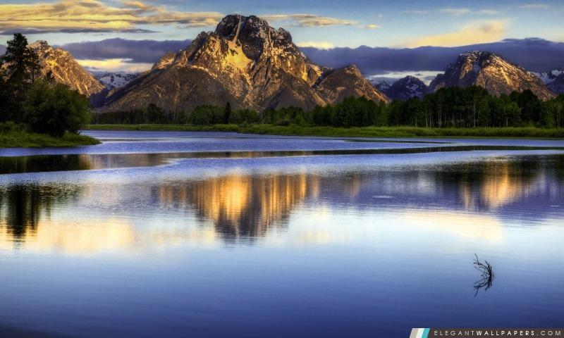Purple Mountain lac, Arrière-plans HD à télécharger