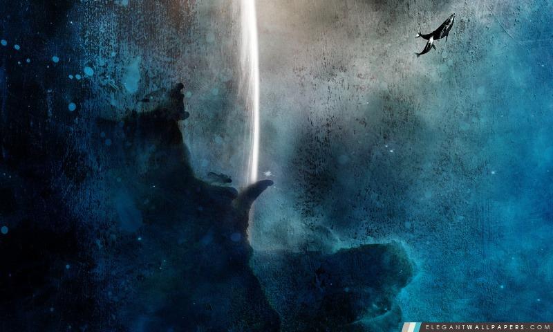 Baleines dans l'espace, Arrière-plans HD à télécharger