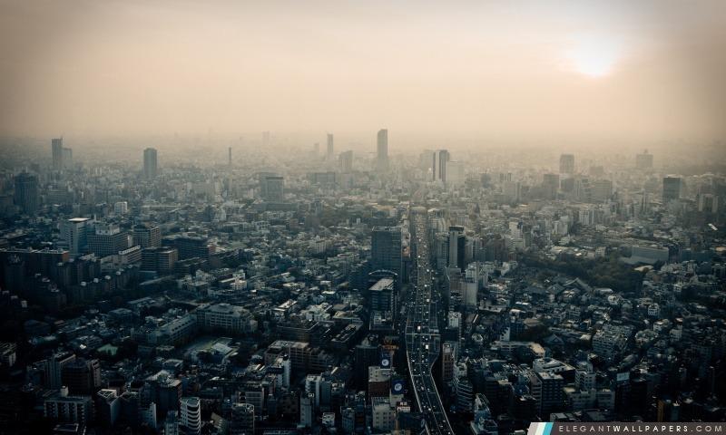 Tokyo smog, Arrière-plans HD à télécharger