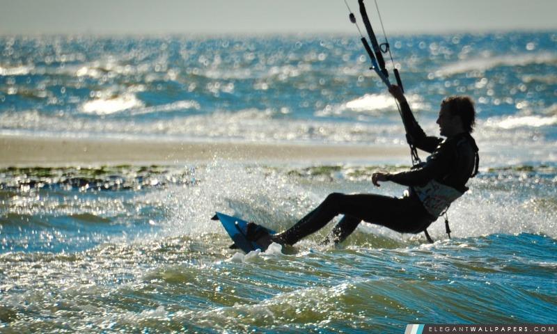 Kite Surf Renesse, Zeeland, Arrière-plans HD à télécharger