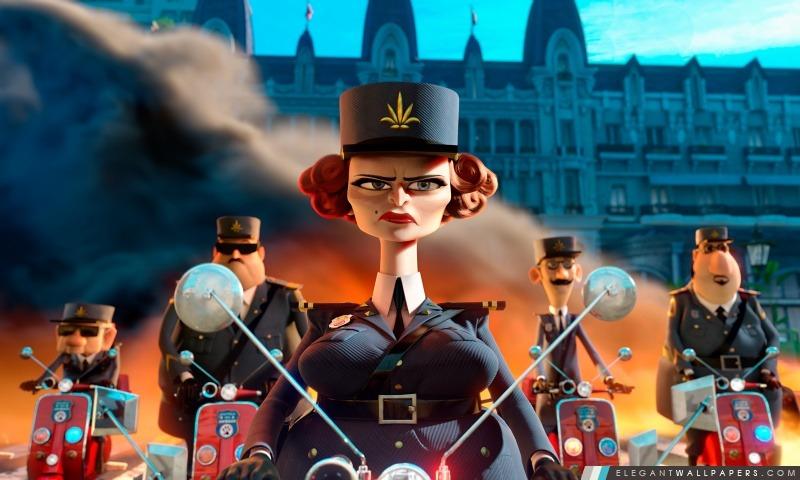 Madagascar 3 Capitaine Dubois, Arrière-plans HD à télécharger