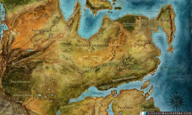 Dragon Age 2 Carte, Arrière-plans HD à télécharger