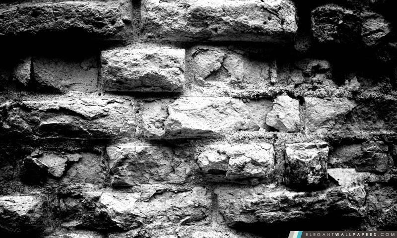Vieux Mur De Briques En Noir Et Blanc Fond Décran Hd à