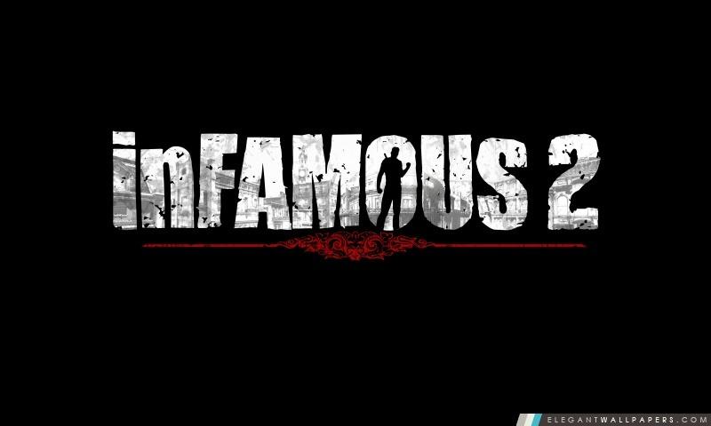 InFamous 2 Logo, Arrière-plans HD à télécharger