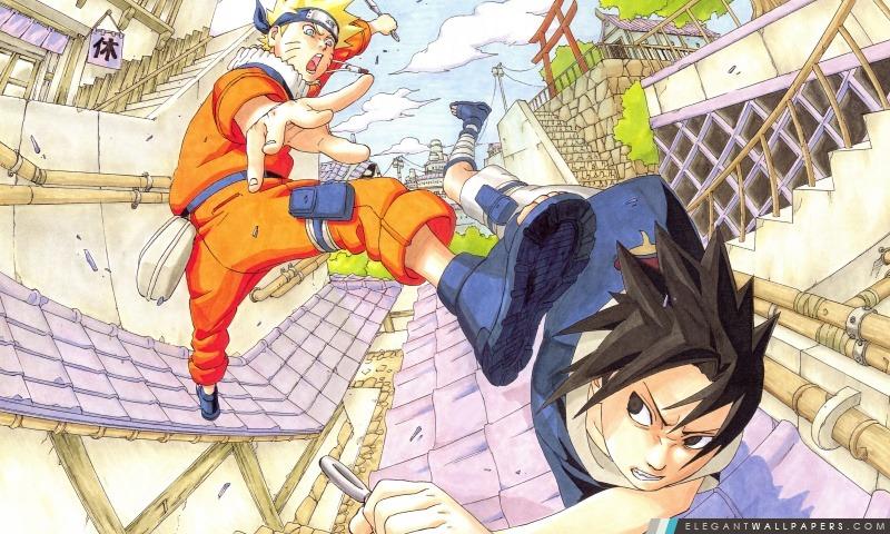 Naruto Vs Sasuke Partie 1 Fond D écran Hd à Télécharger