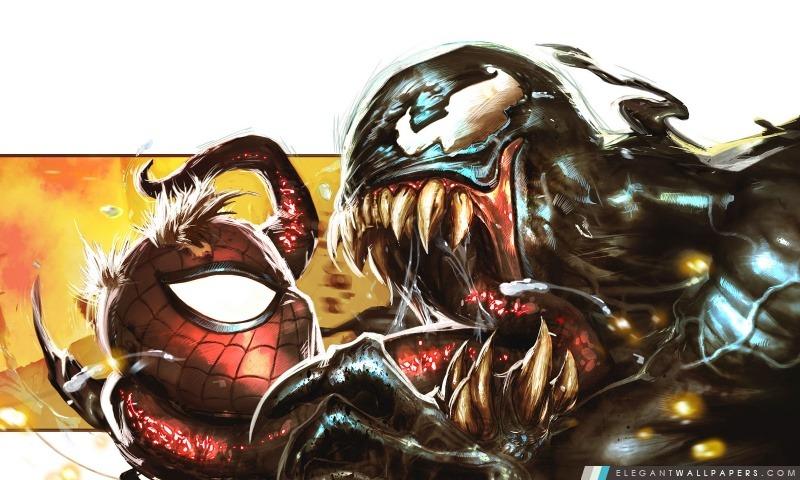 Venom Spiderman Dessin Fond D Ecran Hd A Telecharger