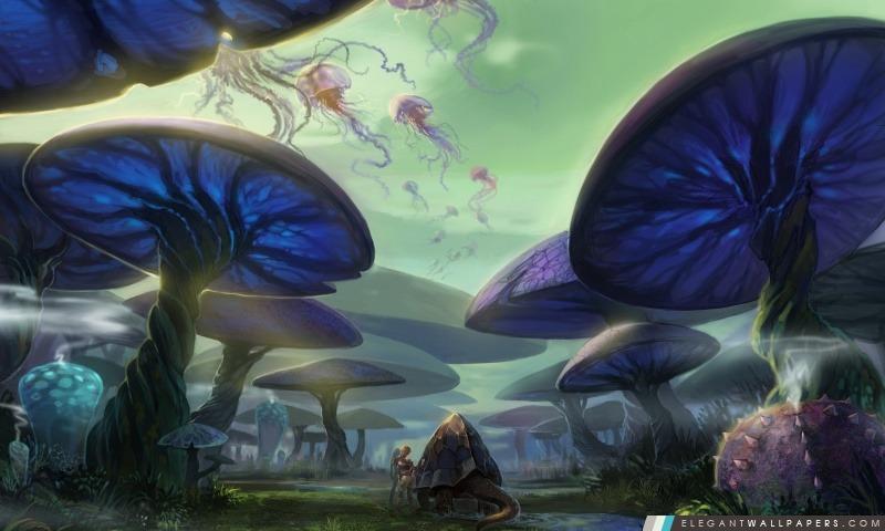 Mushroom Forest, Arrière-plans HD à télécharger
