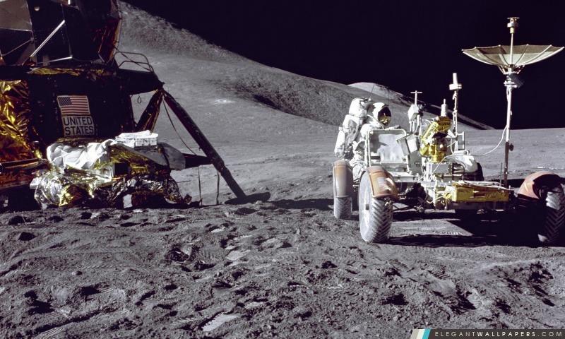 Homme Sur La Lune Fond D Ecran Hd A Telecharger Elegant Wallpapers