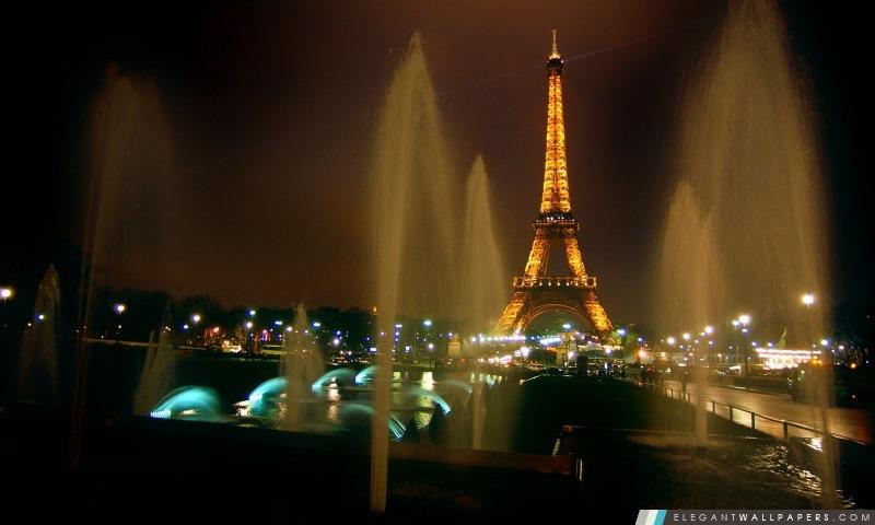 Fontaines et de la tour Eiffel, Arrière-plans HD à télécharger