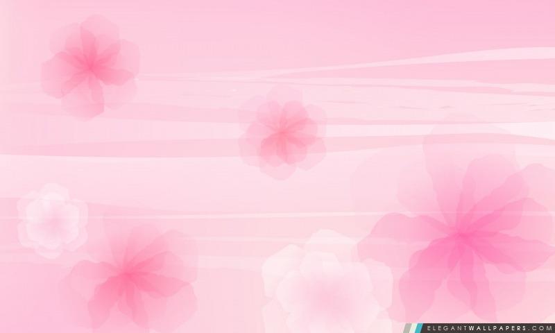 Fleurs Fond rose, Arrière-plans HD à télécharger