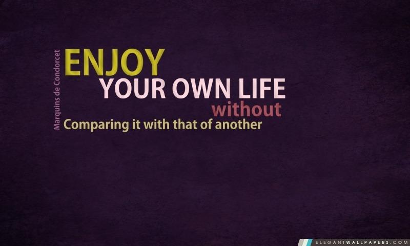 Profitez de votre vie, Arrière-plans HD à télécharger