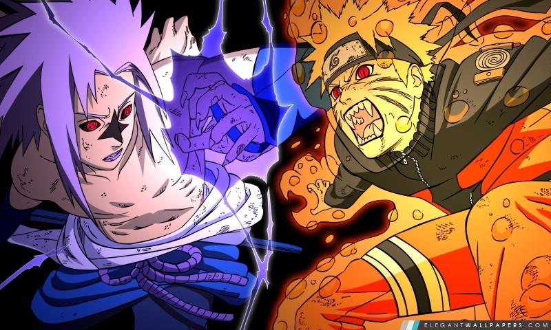 Naruto Vs Sasuke Combat Fond D Ecran Hd A Telecharger Elegant
