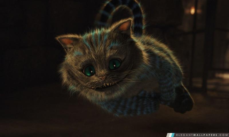 2010 Alice au pays des merveilles, chat de Cheshire, Arrière-plans HD à télécharger