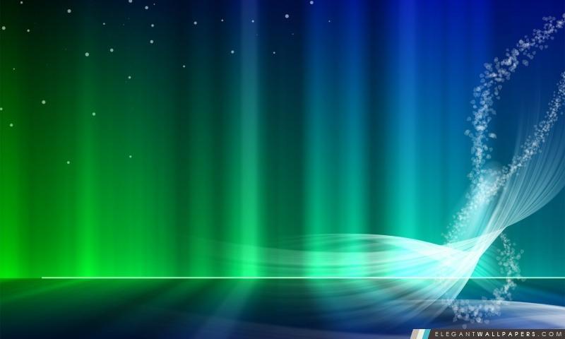 Vista bleu et vert Aurora. Fond d'écran HD à télécharger | Elegant Wallpapers