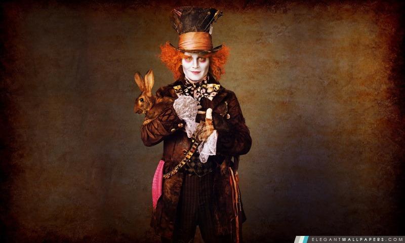 Johnny Depp dans Alice au pays des merveilles, Arrière-plans HD à télécharger